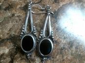 Black Stone Silver-Stone Earrings 925 Silver 4.6dwt